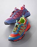 Two colorful kids' sneakers