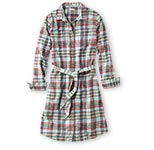 Botton-Front Shirtdress, Plaid.