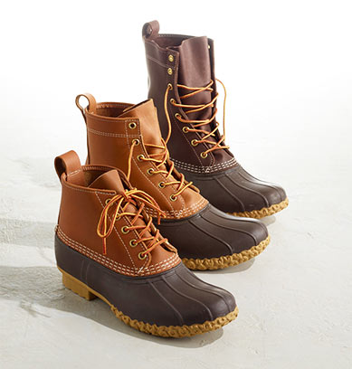Three L.L.Bean Boots.