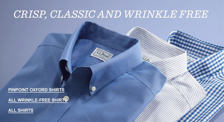 Crisp, classic and wrinkle free.