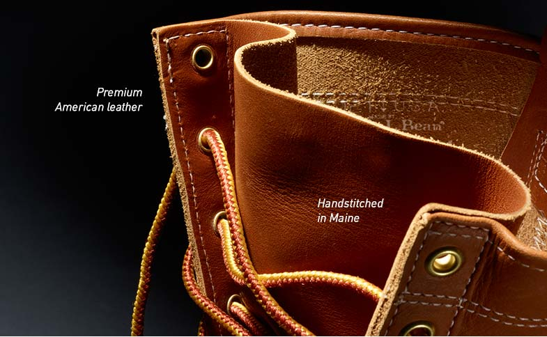 Premium American leather. Handstitched in Maine.