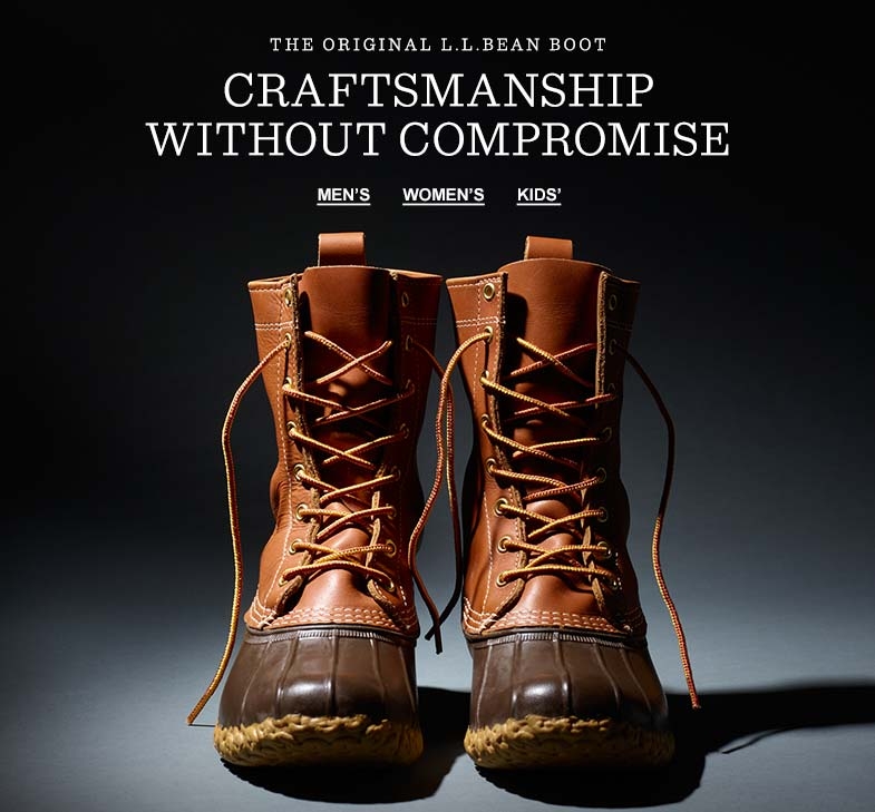 THE ORIGINAL L.L.BEAN BOOT: CRAFTSMANSHIP WITHOUT COMPROMISE.