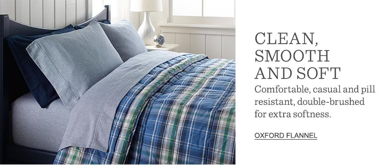 CLEAN, SMOOTH AND SOFT: Comfortable, casual and pill resistant, double-brushed for extra softness.