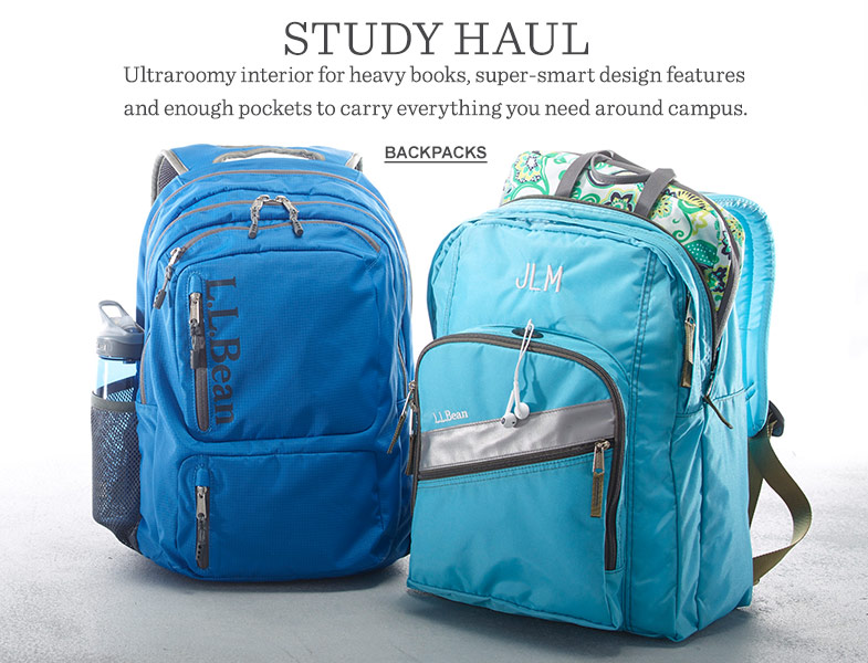 Study haul. Ultraroomy interior, super-smart design features and plenty of pockets.