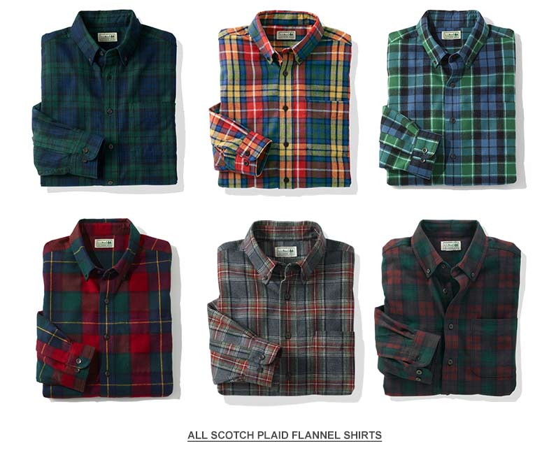 Scotch Plaid Flannel Shirts