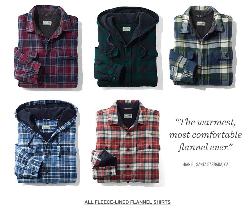 Fleece-Lined Flannel Shirts