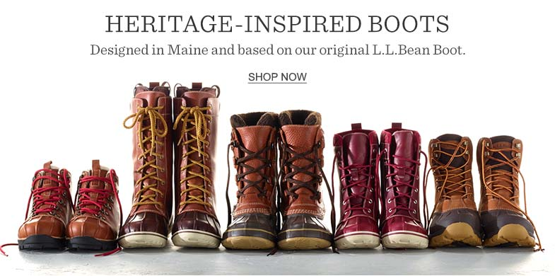 Heritage-Inspired Boots. Designed in Maine and based on our original L.L.Bean Boot.