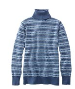 Cotton/Cashmere Fair Isle Turtleneck Sweater