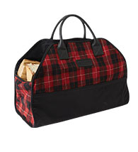 PLAID LOG CARRIER