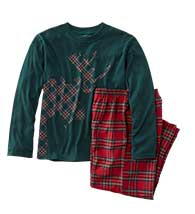 FLANNEL PJ/TEE SET