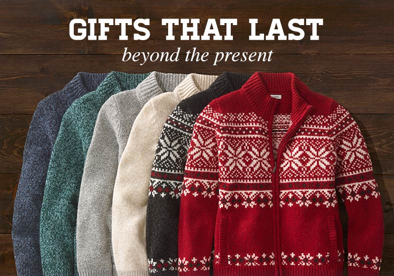 GIFTS THAT LAST beyond the present