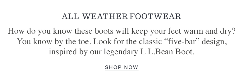All-Weather Footwear
