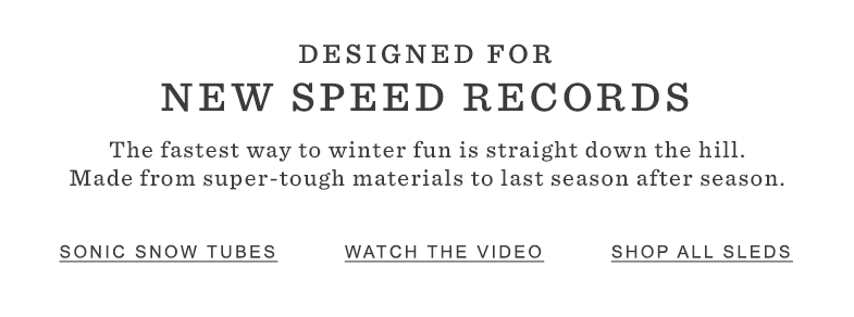 Designed for New Speed Records