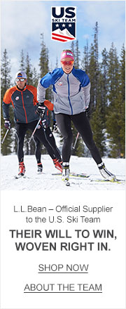 L.L.Bean, Official Supplier to the U.S. Ski Team.