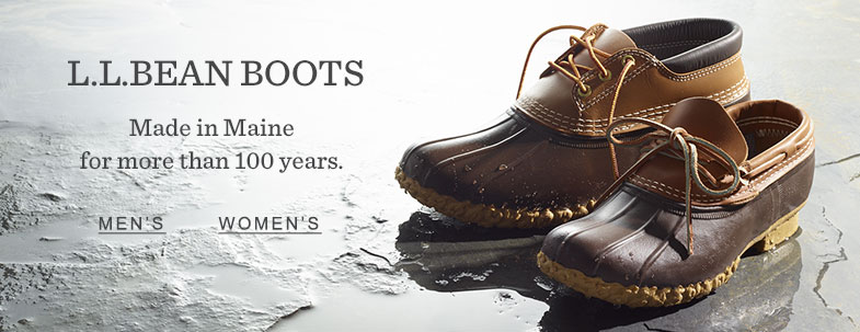 L.L.Bean Boots. Made in Maine for more than 100 years.