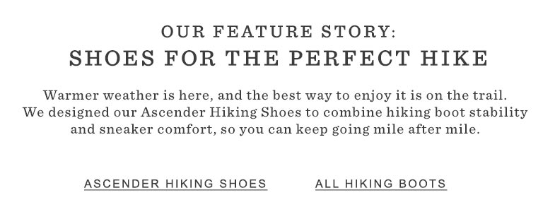 Shoes for the Perfect Hike
