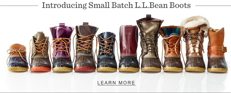 Introducing Small Batch L.L.Bean Boots.