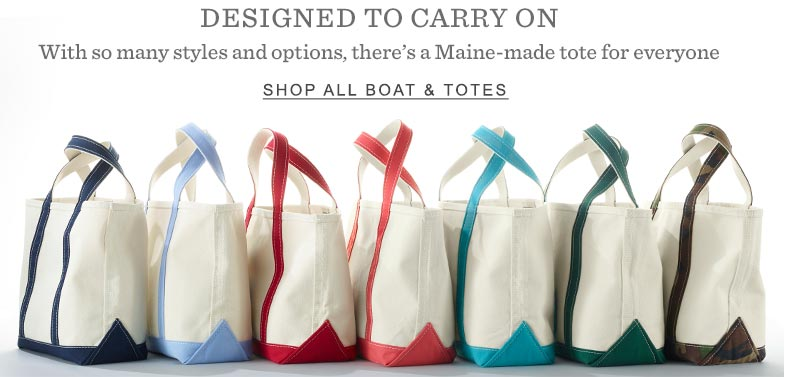 Designed to Carry On. With so many styles and options, there's a Maine-made tote for everyone