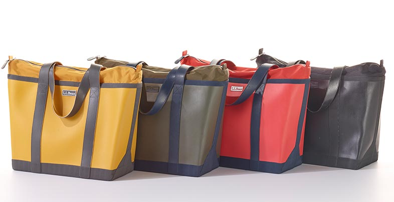 Totes in various colors