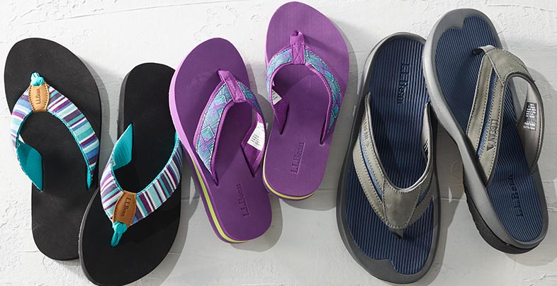 Three pairs of sandals.
