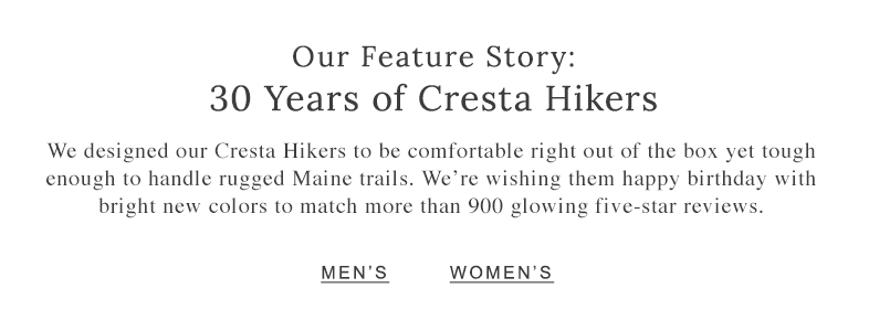Our Feature Story: 30 Years of Cresta Hikers.