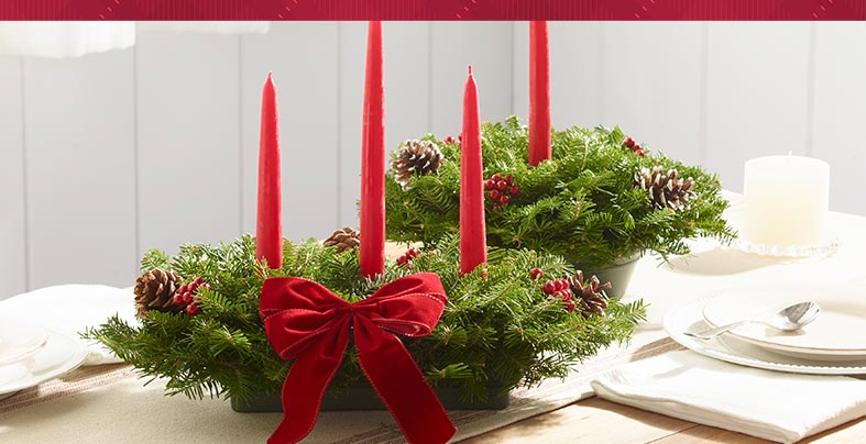 Traditional Balsam Centerpieces