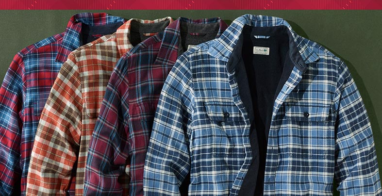 Fleece-Lined Flannel Shirts