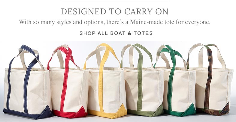 Designed to Carry On. With so many styles and options, there's a Maine-made tote for everyone.