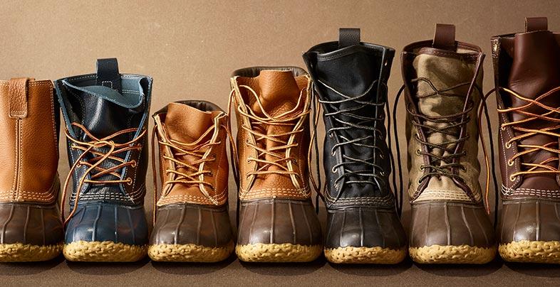 Line of L.L.Bean Boots