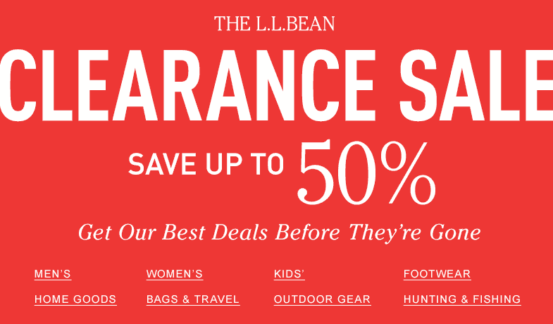 CLEARANCE SALE. Save up to 50%. Get Our Best Deals Before They're Gone.