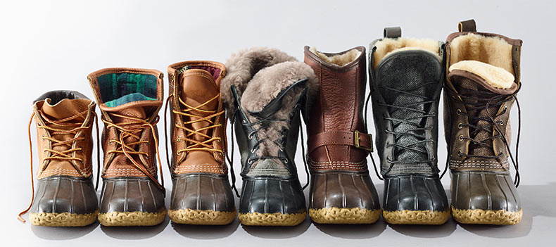 An assortment of L.L.Bean Boots