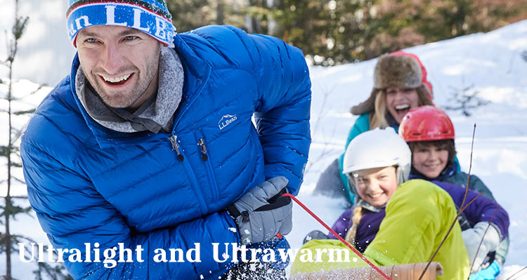 Ultralight and Ultrawarm.