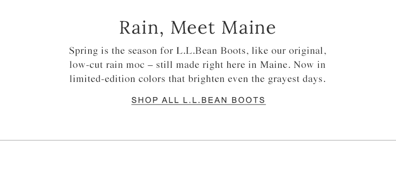 Rain, Meet Maine.