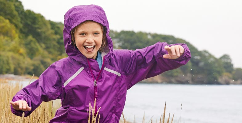 Girl laughing in L.L.Bean Outerwear