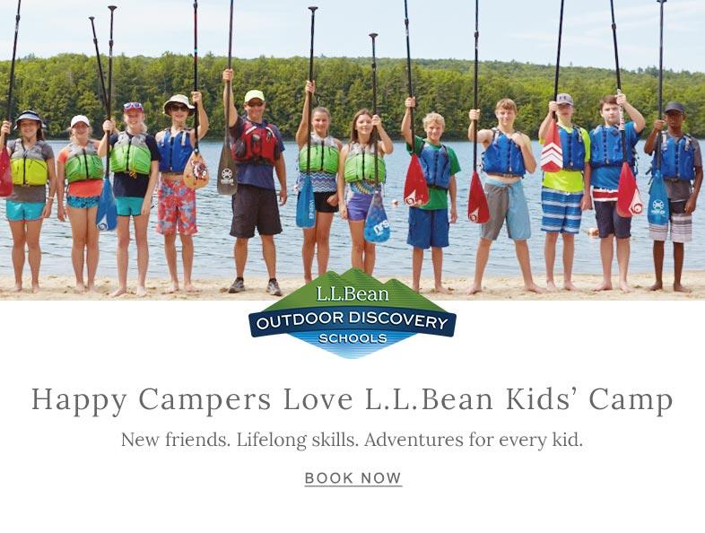 Happy Campers Love L.L.Bean Kids' Camp.