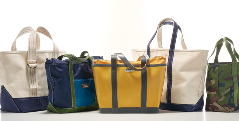 diverse selection of L.L.Bean Totes