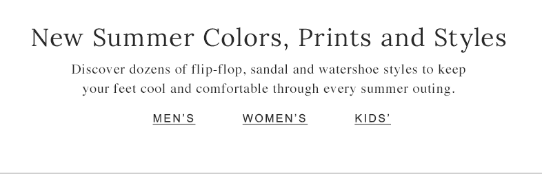 New Summer Colors, Prints and Styles.