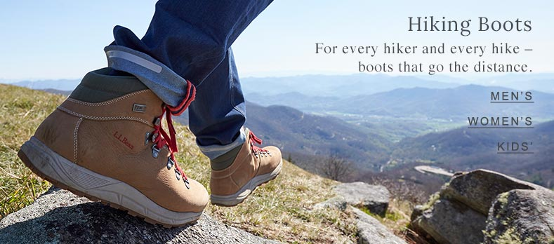 Hiking Boots For every hiker and every hike – boots that go the distance.