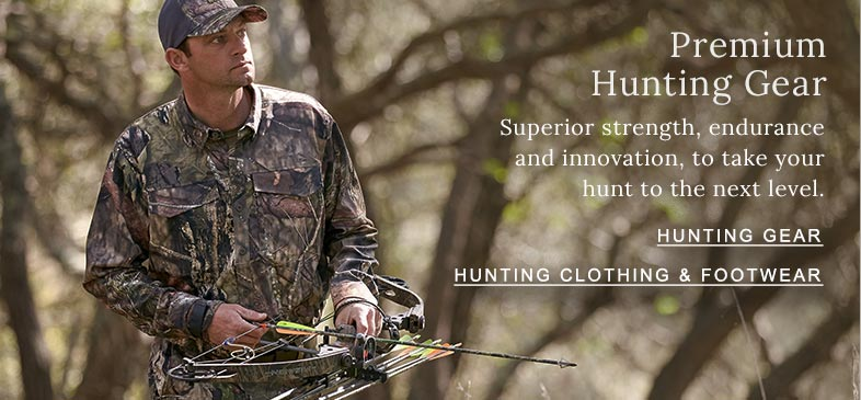 Premium Hunting Gear Superior strength, endurance and innovation, to take your hunt to the next level.