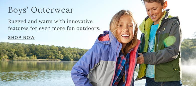 Boys' Outerwear Rugged and warm with innovative features for even more fun outdoors.