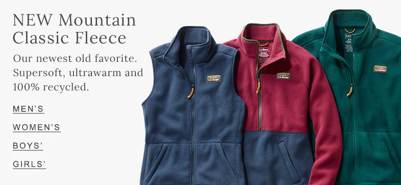 NEW Mountain Classic Fleece. Our newest old favorite. Supersoft, ultrawarm and 100% recycled.