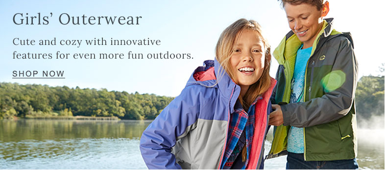 Girls' Outerwear. Cute and cozy with innovative features for even more fun outdoors.