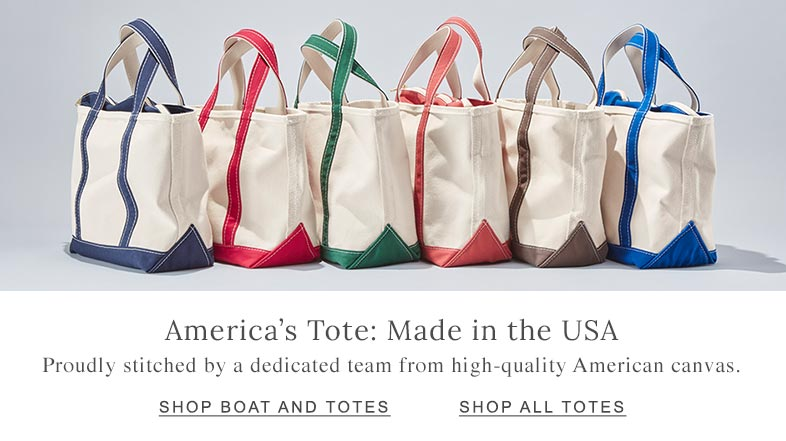 America's Tote: Made in the USA Proudly stitched by a dedicated team from high-quality American canvas.