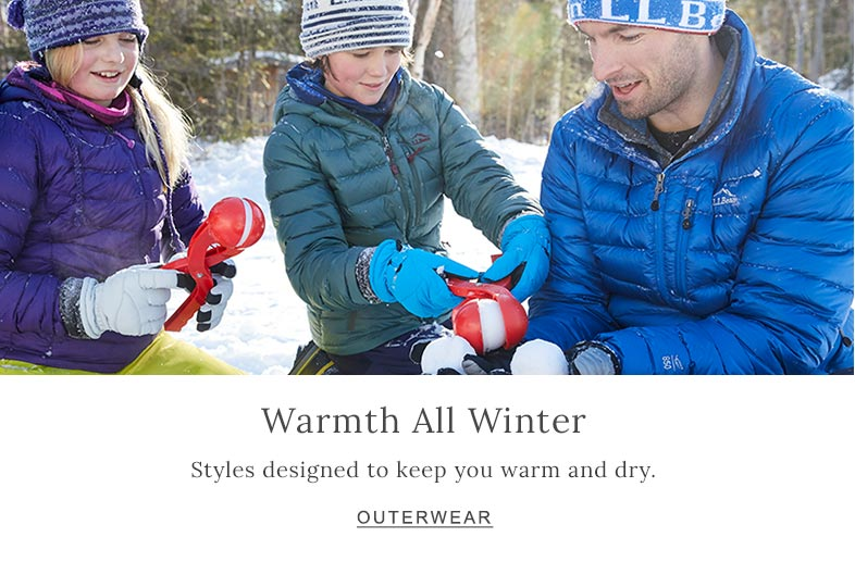 Warmth All Winter Styles designed to keep you warm and dry.