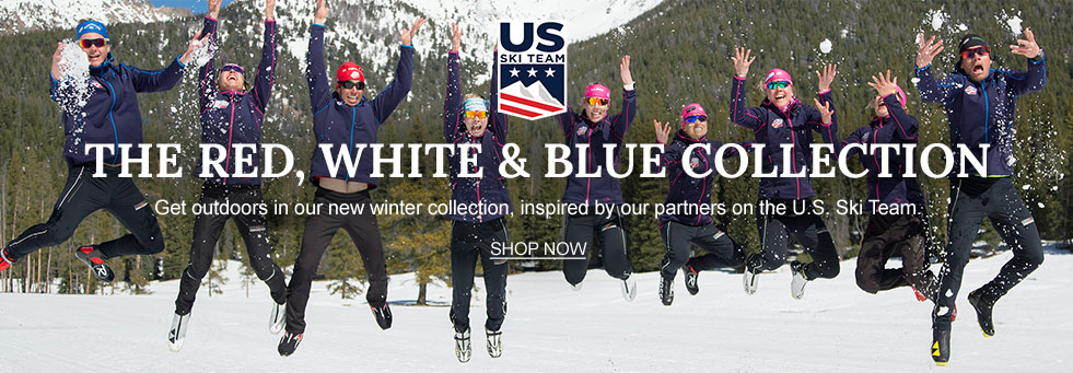US Ski Team. Get outdoors in our red, white and blue winter collection, inspired by our partners on the U.S. Ski Team.