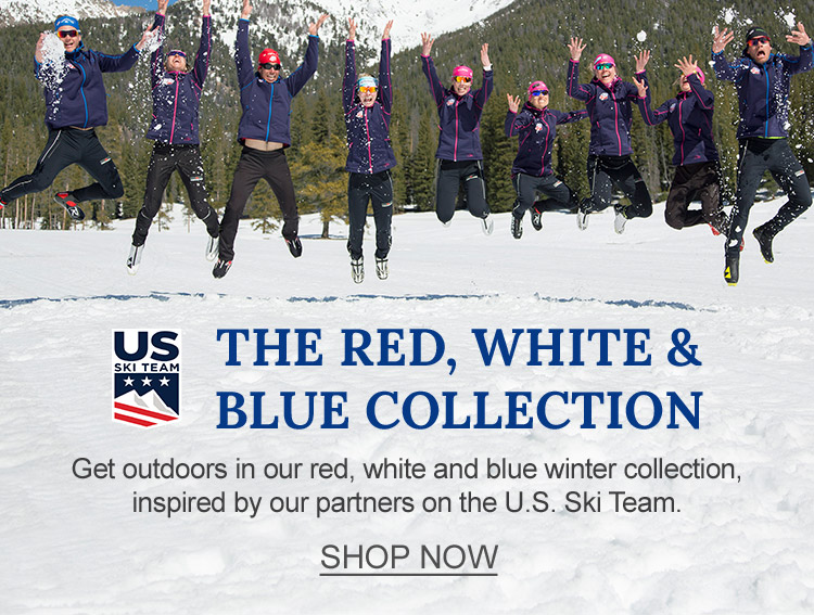 The Red, White and Blue Collection, inspired by our partners on the U.S. Ski Team.