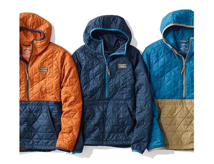 Styles of the NEW Katahdin Insulated Pullover.