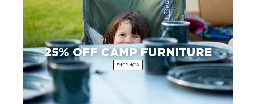 25% Off Camp Furniture