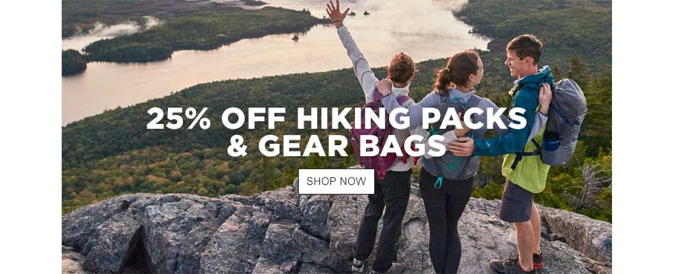 25% Off Hiking Packs & Gear Bags