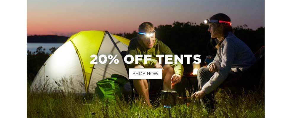 20% Off Tents